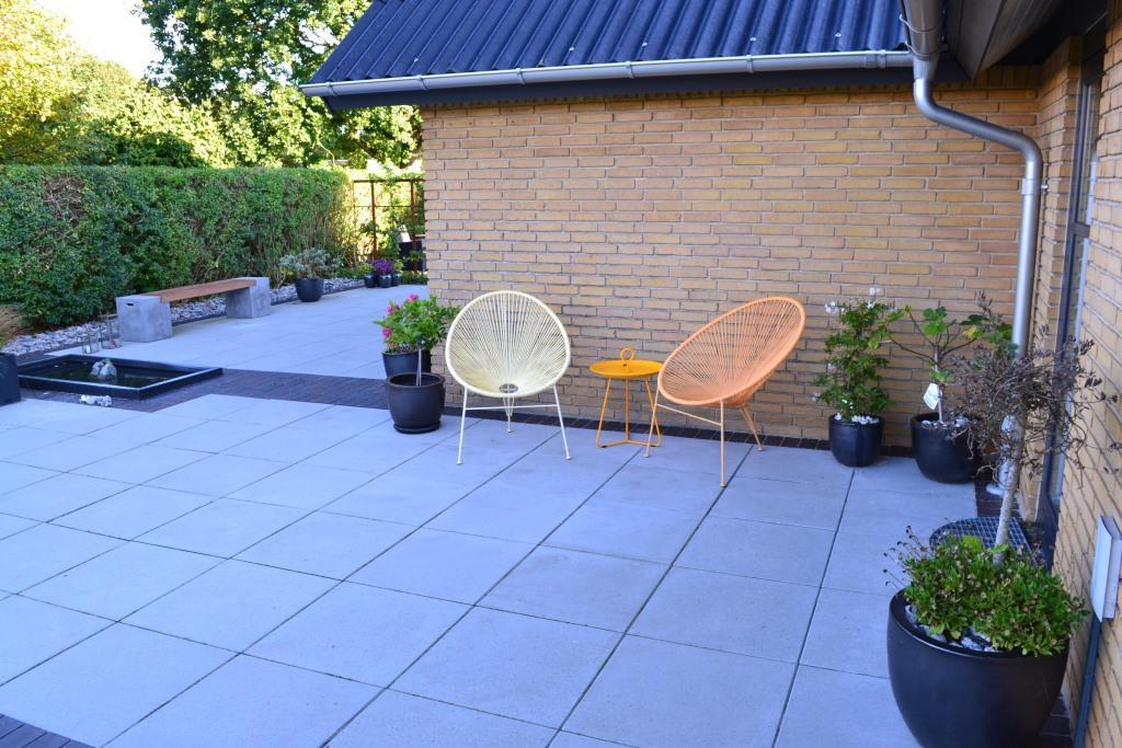 Grå betonfliser, 60 x 60cm