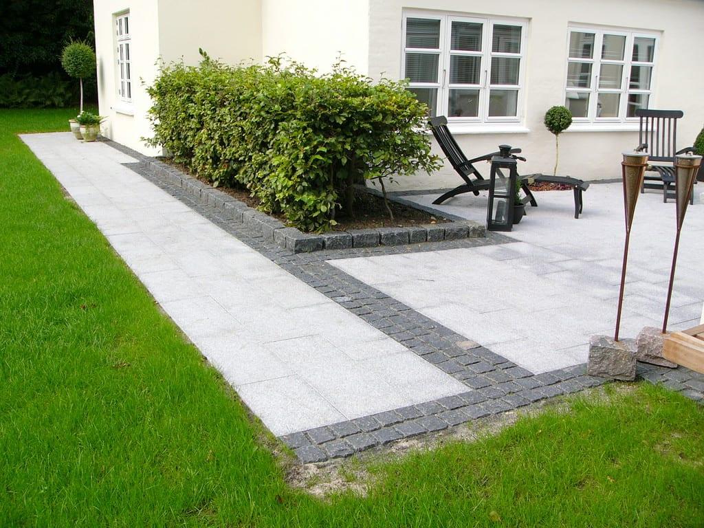 Granit fliser, bord af chaussésten Anlægsgartner