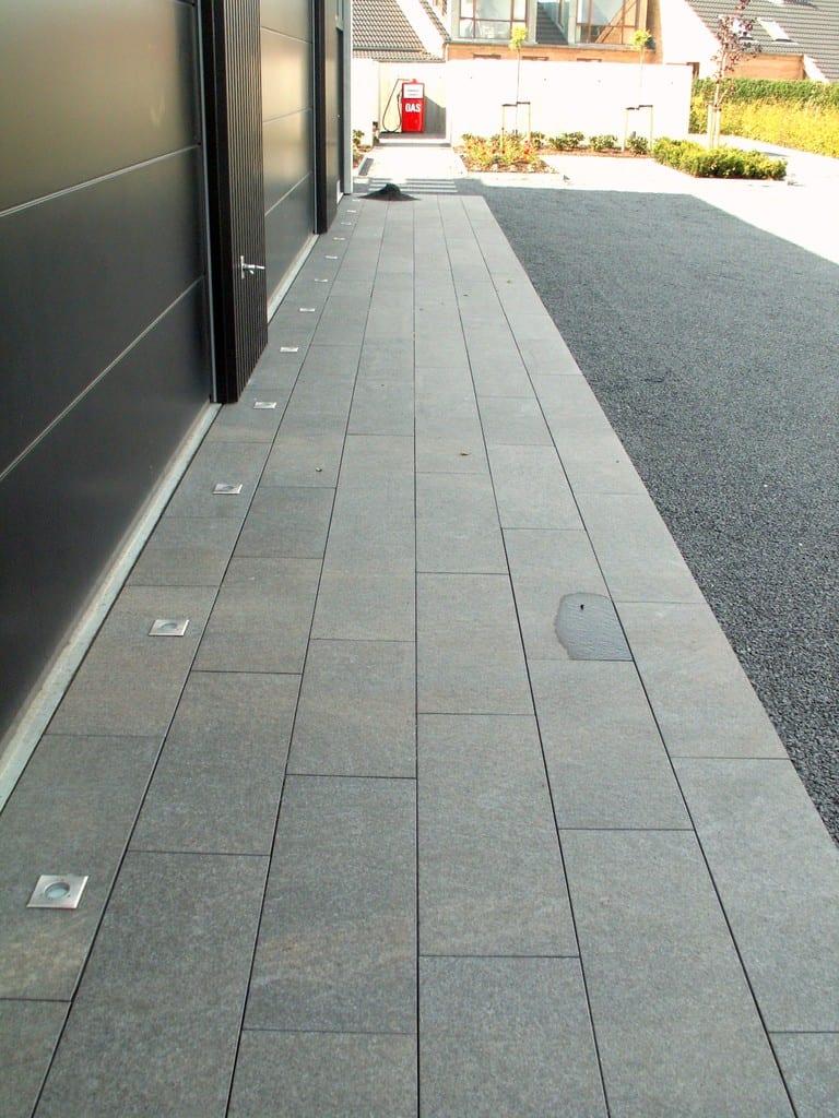 Granit fliser med indbygget lys