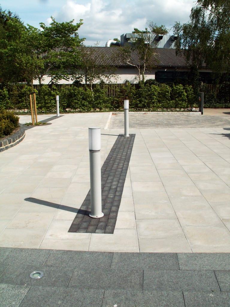 Granit, sorte klinker og beton fliser