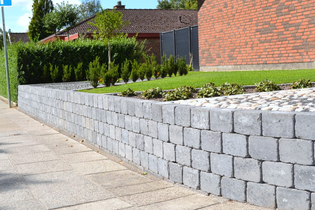 Holmegaardsten's mur i Herning