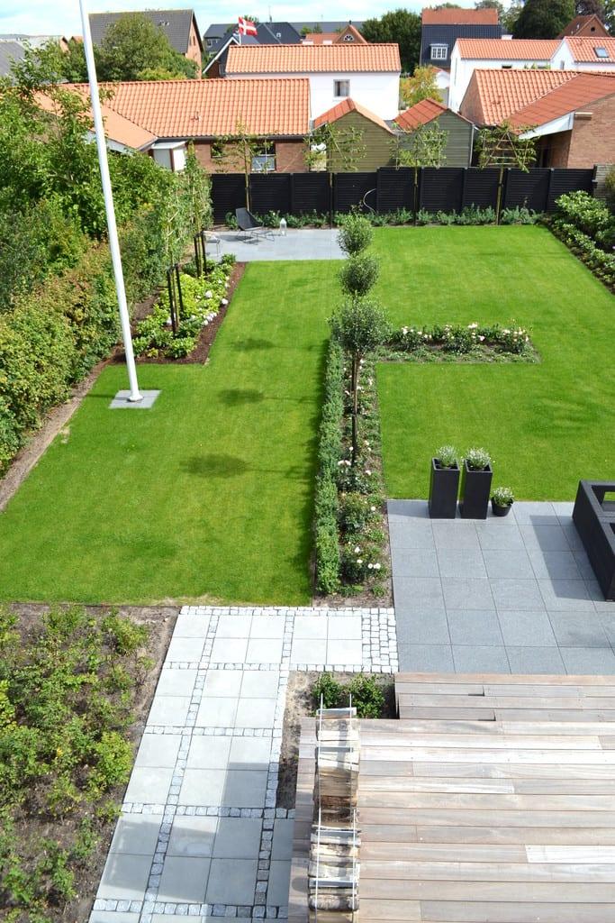 Færdig haveanlæg i Herning