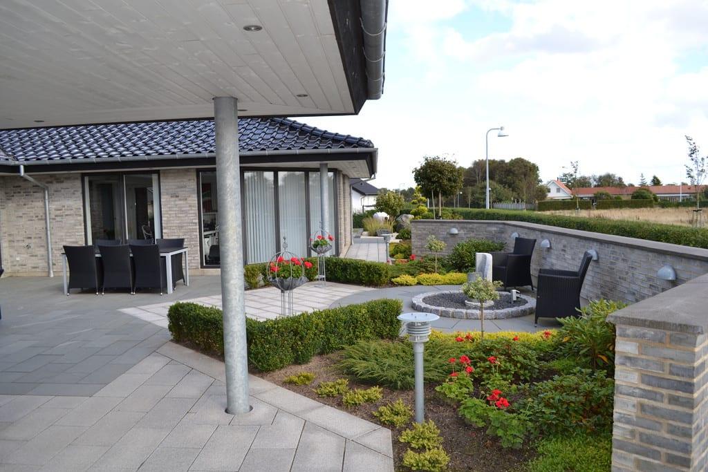 Granit terrasse i Herning