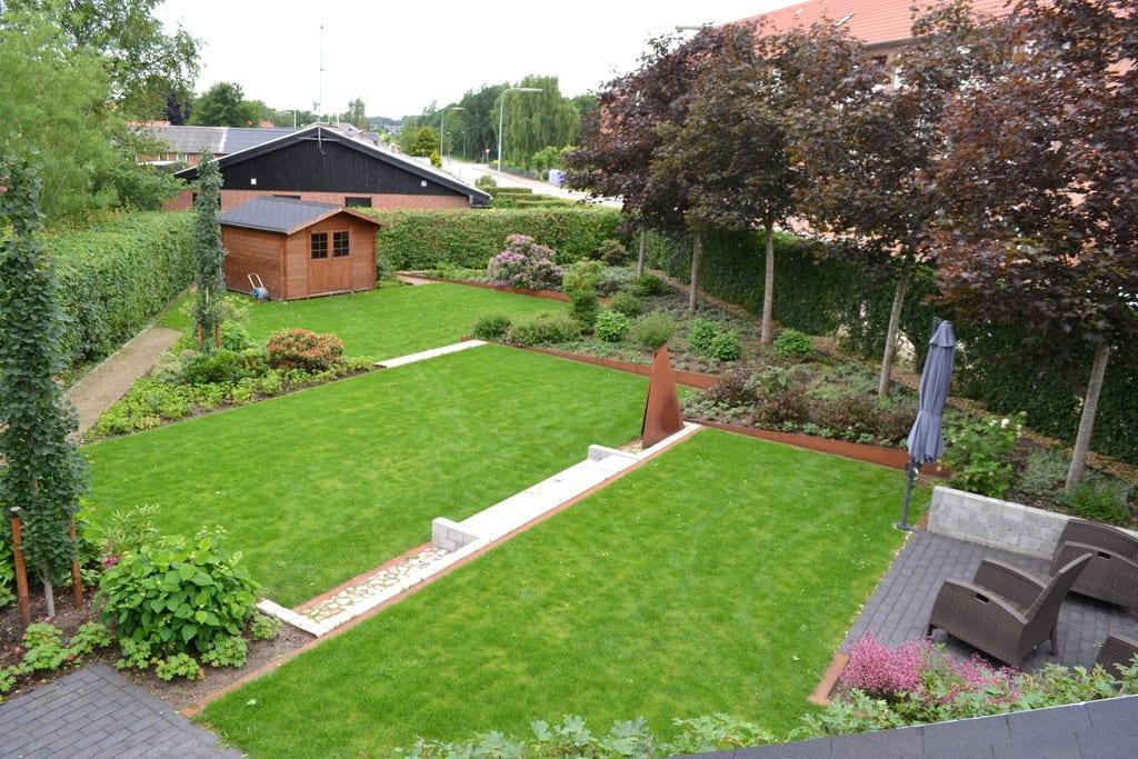 Græsplæne i tre niveauer