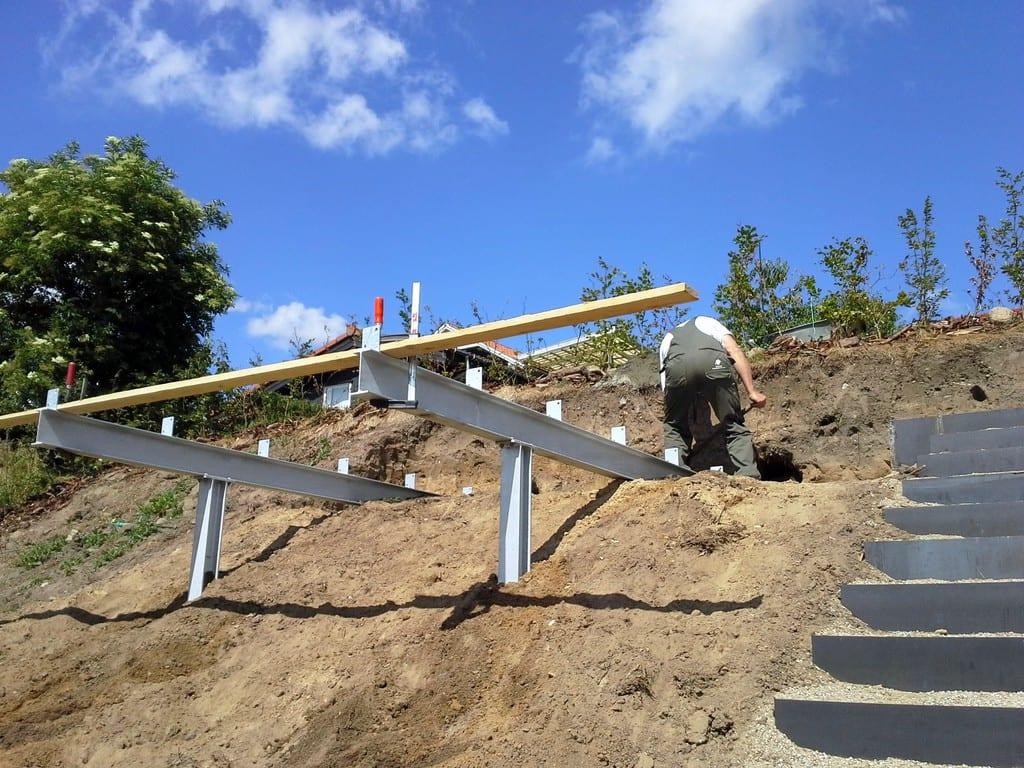 Opbygning af træterrasse