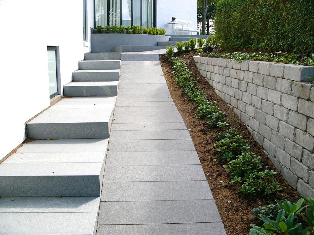 Granit trappe og granit rampe