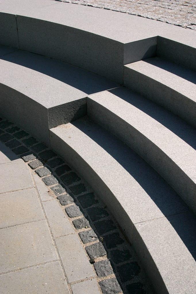 Detalje, granit amfiteater