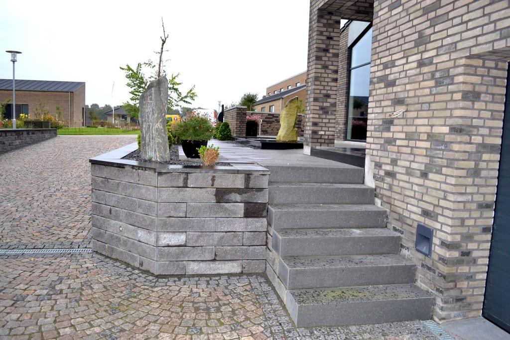 Granit trin, standard elementer i sort bassalt