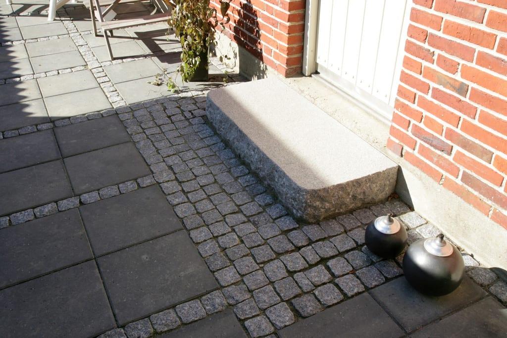 Granit trappe, stokhugget