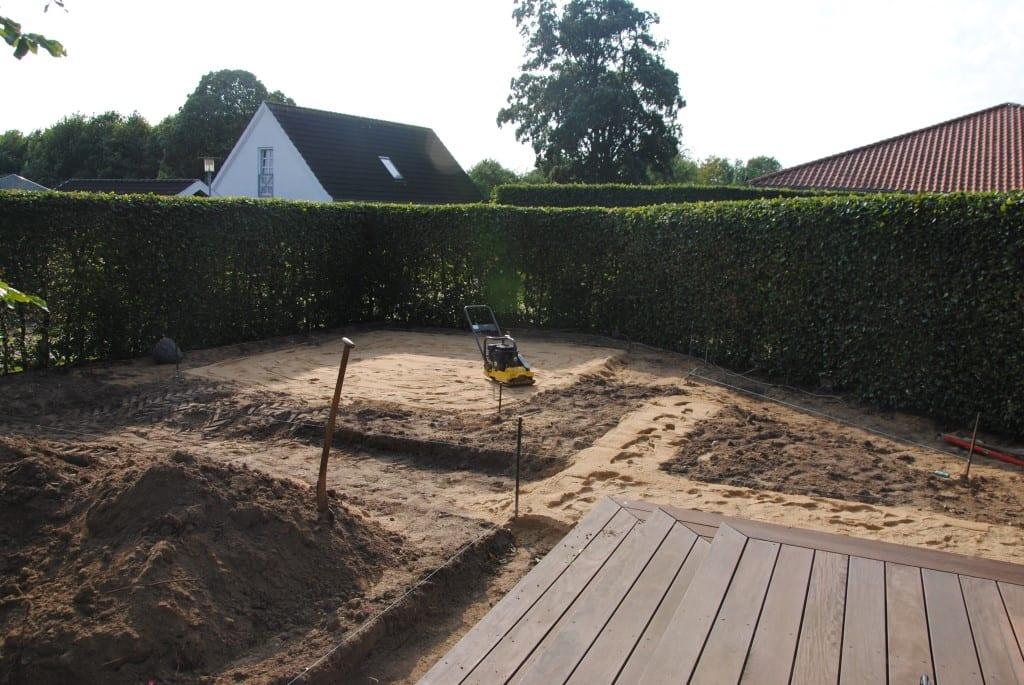 Klargøring til en ny terrasse