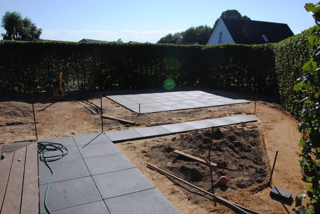 Ny terrasse med IBF Trenline fliser